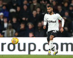 Derby County's Ashley Cole during the match at Pride Park