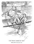 """""""The Twelve Labours of 'Arry."""" Third Labour. — 'Arry catches a crab."""