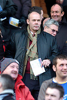 Photo: Leigh Quinnell.<br /> Leicester City v Southampton. The FA Cup. 28/01/2006.<br /> Southampton coach Sir Clive Woodward arrives fir the game.
