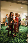 ANDREA DUBEUX WEBB; ANDRENA WOODHAMS The hon Alexandra Foley hosts drinks to introduce ' Lady Foley Grand Tour' with special guest Julian Fellowes. the Sloane Club. Lower Sloane st. London. 14 May 2014