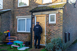 Police search the New Ash Green, Kent, home of the former partner of a mother who went missing over two months ago, after his re-arrest on suspicion of murder. New Ash Green, Kent, December 20 2018.