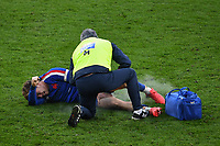 Rugby Union - 2020 Autumn Nations Cup - Final - England vs France - Twickenham<br /> <br /> France's Matthieu Jalibert receiving medical attention during the game.<br /> <br /> COLORSPORT/ASHLEY WESTERN
