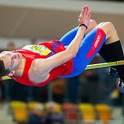 NLD/Apeldoorn/20180217 - NK Indoor Athletiek 2018, hoogspringen, Sven van Merode