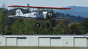 Boeing 40 landing at Ken Jernstedt Airfield.