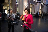 DEU, Deutschland, Germany, Berlin, 10.02.2017: Malu Dreyer (SPD), Ministerpräsidentin von Rheinland-Pfalz und Bundesratspräsidentin, bei einem Pressestatement im Bundesrat.