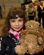 31/01/2018  retro free :  Aoife Auletta Jirault from Fort Lorenzo who was the star pupil at school so was minding TED and brought him to the launch of  at the launch of Wide Eyes, a unique one-off European arts extravaganza for babies and children aged 0 – 6. Hosted by Baboró, Wide Eyes will take place in Galway till Sun 4 February. This imaginative programme will feature 15 new theatre and dance shows from some of Europe's finest creators of Early Years work from Austria, Belgium, Denmark, Finland, France, Germany, Hungary, Italy, Poland, Romania, Slovenia, Spain, Sweden, UK and Ireland. For more see www.wideeyesgalway.ie<br /> <br /> Wide Eyes will welcome almost 200 artists and arts professionals from almost 20 countries to enthral and engage children over four jam-packed days. Photo:Andrew Downes, XPOSURE