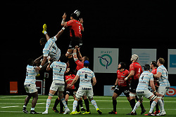 April 8, 2018 - Nanterre, Hauts de Seine, France - RC Toulon Lock ROMAIN TAOFIFENUA in action during the French rugby championship Top 14 match between Racing 92 and RC Toulon at U Arena Stadium in Nanterre - France..Racing 92 Won  17-13. (Credit Image: © Pierre Stevenin via ZUMA Wire)