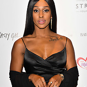 Alexandra Burke attends gala dinner and concert to raise money and awareness for the Melissa Bell Foundation and Style For Stroke Foundation. 14 October 2018.