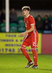 RHYL, WALES - Wednesday, November 14, 2018: Wales' Neco Williams during the UEFA Under-19 Championship 2019 Qualifying Group 4 match between Wales and Scotland at Belle Vue. (Pic by Paul Greenwood/Propaganda)