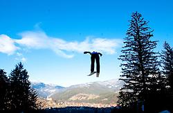 A ski-jumper competes during FIS Continental Cup Ski Jumping Ladies in Ljubno, on January 23, 2011, at K-85 in Ljubno ob Savinji, Slovenia. (Photo By Vid Ponikvar / Sportida.com)