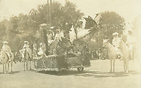1909 Queen's float in the Hollywood Tilting & Floral parade