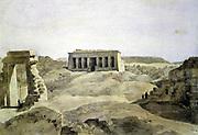 Dendera'. Hector Horeau (1801-1782) French architect. Temple of Hathor, Dendera, Egypt. Archaeology Architecture Religion Mythology Ancient Egyptian