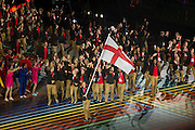 23.07.2014. Glasgow, Scotland. Glasgow Commonwealth Games. The opening ceremony. Team England lap up the occasion