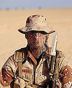 US Army Special Forces Soldier in Desert Camo
