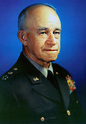 Omar Nelson Bradley (1893-1981) American general, U.S. Army field commander in both North Africa and Europe during the Second World War.  Appointed first Chairman of the Joint Chiefs of Staff, September 1950, by President Truman.