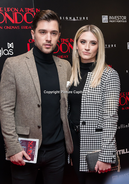 JJ Hamblett  Arrivers at Once Upon a Time in London - London premiere of the rise and fall of a nationwide criminal empire that paved the way for notorious London gangsters the Kray Twins and the Richardsons at The Troxy 490 Commercial Road, on 15 April 2019, London, UK.