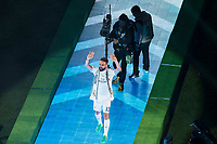 Real Madrid's player Carvajal during the celebration of the victory of the Real Madrid Champions League at Santiago Bernabeu in Madrid. May 29. 2016. (ALTERPHOTOS/Borja B.Hojas)