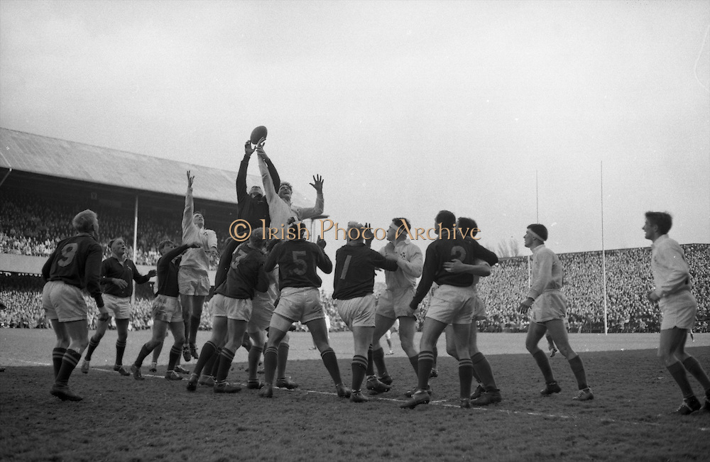 Irish Rugby Football Union, Ireland v South Africa, Tour Match, Landsdowne Road, Dublin, Ireland, Saturday 10th April, 1965,.10.4.1965, 4.10.1965,..Referee- P G Brook, Rugby Football Union, ..Score- Ireland 9 - 6 South Africa, ..Irish Team, ..T J Kiernan,  Wearing number 15 Irish jersey, Full Back, Cork Constitution Rugby Football Club, Cork, Ireland,..P J McGrath,  Wearing number 14 Irish jersey, Right Wing, University college Cork Rugby Football Club, Cork, Ireland,  ..J C Walsh,  Wearing number 13 Irish jersey, Right Centre, University college Cork Rugby Football Club, Cork, Ireland,..M K Flynn, Wearing number 12 Irish jersey, Left Centre, Wanderers Rugby Football Club, Dublin, Ireland, ..K J Houston, Wearing number 11 Irish jersey, Left Wing, Bruff Rugby Football Club, Limerick, Ireland, and, Oxford University Rugby Footabll Club, Oxford, England, ..C M H Gibson, Wearing number 10 Irish jersey, Stand Off, Cambridge University Rugby Football Club, Cambridge, England, and, N.I.F.C, Rugby Football Club, Belfast, Northern Ireland,..R M Young, Wearing number 9 Irish jersey, Scrum Half, Queens University Rugby Football Club, Belfast, Northern Ireland,..S MacHale, Wearing number 1 Irish jersey, Forward, Landsdowne Rugby Football Club, Dublin, Ireland, ..K W Kennedy, Wearing number 2 Irish jersey, Forward, Queens University Rugby Football Club, Belfast, Northern Ireland,..R J McLoughlin, Wearing number 3 Irish jersey, Captain of the Irish team, Forward, Gosforth Rugby Football Club, Newcastle, England, ..W J McBride, Wearing number 4 Irish jersey, Forward, Ballymena Rugby Football Club, Antrim, Northern Ireland,..W A Mulcahy, Wearing number 5 Irish jersey, Forward, Bective Rangers Rugby Football Club, Dublin, Ireland,  ..M G Doyle, Wearing number 6 Irish jersey, Forward, University College Dublin Rugby Football Club, Dublin, Ireland,..N Murphy, Wearing number 7 Irish jersey, Forward, Cork Constitution Rugby Football Club, Cork, Ireland,..South African Team, ..L Wilson,