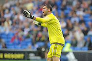 Cardiff city goalkeeper David Marshall looks on.Skybet football league championship match, Cardiff city v Wolverhampton Wanderers at the Cardiff city stadium in Cardiff, South Wales on Saturday 22nd August 2015.<br /> pic by Andrew Orchard, Andrew Orchard sports photography.
