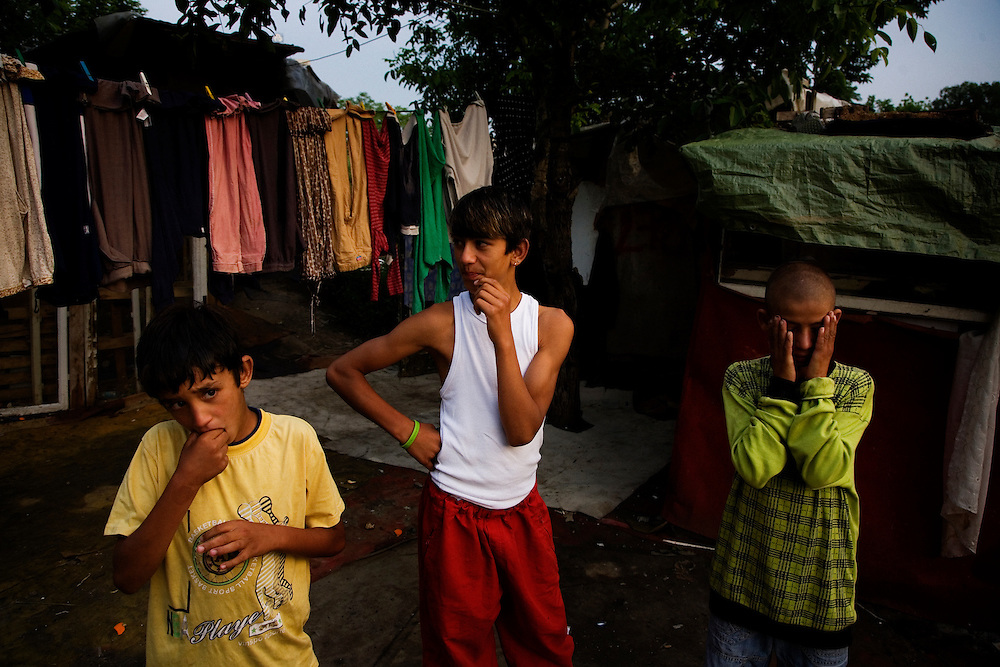 Boys in the Stara Gazela camp.