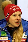 Ana Bucik anlässlich des Audi FIS Ski World Cups 2018 der Frauen in Lenzerheide