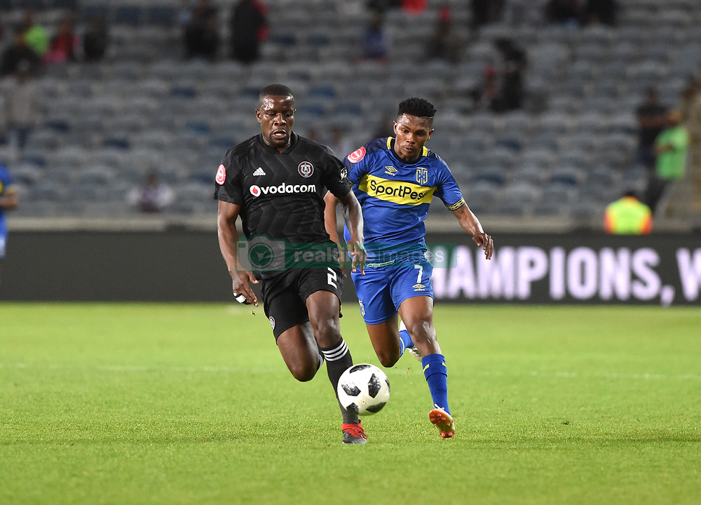 South Africa: Johannesburg: Orlando Pirates Ntsikelelo Nyauza and Cape Town City  Gift Links during the Premier Soccer League (PSL) at Orlando Stadium in Soweto, Gauteng.<br />19.09.2018<br />Picture: Itumeleng English/African News Agency (ANA)