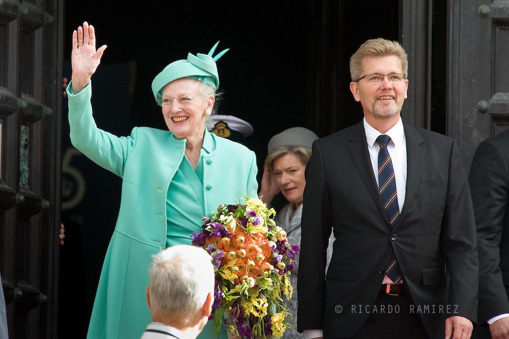 16.04.2015. Copenhagen, Denmark.<br /> Queen Margrethe II of Denmark and The Mayor of Copenhagen during festivities for her 75th birthday.<br /> Photo:© Ricardo Ramirez