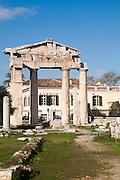 Greece, Athens, The Roman Agora Gate of Athena Archegetis. The entrance to the Agora
