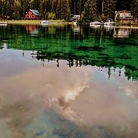 Painterly skies on Ashley Lake .
