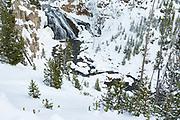 Gibbon Falls in winter