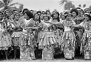 Local people dancing at cultural event in Tuvalu, South Pacific