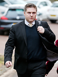 © Licensed to London News Pictures. 02/03/2016. Ampthill, UK. Conservative aide ANDRE WALKER arrives for a pre-inquest review into the death of Conservative party activist Elliott Johnson. Mr Johnson was found dead on a railway line in Bedfordshire a few weeks after he raised concerns about the way he had been treated in the Conservative youth wing. Photo credit: Peter Macdiarmid/LNP