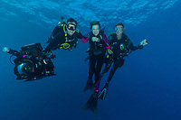 Dr Sylvia Earle and Dive team Seychelles