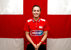 Team England's Jocelyn Ulyett poses for a photo during the kitting out session at Kukri Sports HQ, Preston.
