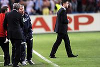 Fotball<br /> Norge<br /> 26.05.2012<br /> Norge v England 0:1<br /> Foto: Morten Olsen, Digitalsport<br /> <br /> Roy Hodgson og Egil Olsen - trener for England og Norge