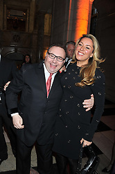 CLAIRE SWEENEY and JONATHAN SHALIT at the 50th birthday party for Jonathan Shalit held at the V&A Museum, London on 17th April 2012.