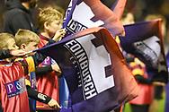 Flag bearers at the 1872 Challenge Cup, Guinness Pro 14 2018_19 match between Edinburgh Rugby and Glasgow Warriors at BT Murrayfield Stadium, Edinburgh, Scotland on 22 December 2018.