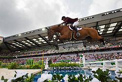 Shaikh Ali bin Khali Al Thani, (QAT), Eurocommerce California - World Champions, - Second Round Team Competition - Alltech FEI World Equestrian Games™ 2014 - Normandy, France.<br /> © Hippo Foto Team - Leanjo De Koster<br /> 25/06/14