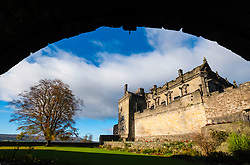 View of Queen Anne Garden at Stirling Castle in Stirling, Scotland, United Kingdom.