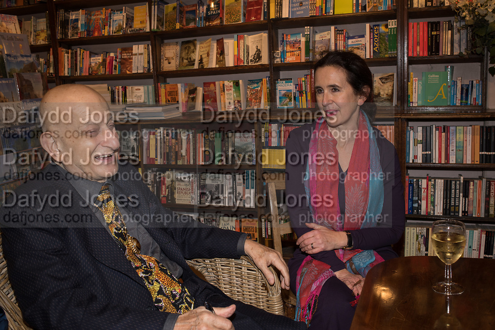 NAIM ATTALLAH; ROSAMOND LANGTON, book launch for No Longer With Us by Naim Attallah. Daunt books. Marylebone. London. 28 Novermber 2018