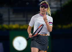 February 21, 2019 - Dubai, ARAB EMIRATES - Elina Svitolina of the Ukraine in action during her quarter-final match at the 2019 Dubai Duty Free Tennis Championships WTA Premier 5 tennis tournament (Credit Image: © AFP7 via ZUMA Wire)
