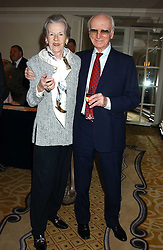 SIR PETER & LADY O'SULLEVAN at The Sir Peter O'Sullevan Charitable Trust Lunch at The Savoy, London on 23rd November 2005.<br /><br />NON EXCLUSIVE - WORLD RIGHTS