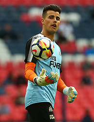 May 9, 2018 - London, England, United Kingdom - Newcastle United's Karl Darlow during the pre-match warm-up .during the English Premier League  match between Tottenham Hotspur and Newcastle United at Wembley, London, England on 09 May 2018. (Credit Image: © Kieran Galvin/NurPhoto via ZUMA Press)