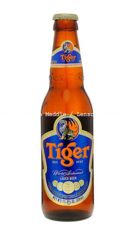 Bottle of Tiger Lager