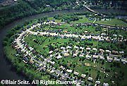 Southcentral Pennsylvania, Suburban Development, Aerial Photograph, Conodoguinet Creek, Cumberland Co., PA