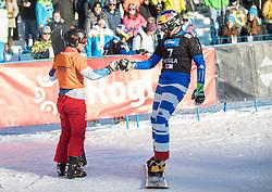 Fischnaller Roland in Galmarini Nevin during the FIS snowboarding world cup race in Rogla (SI / SLO) | GS on January 20, 2018, in Jasna Ski slope, Rogla, Slovenia. Photo by Urban Meglic / Sportida