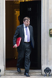 Downing Street, London, February 2nd 2016. Culture Secretary John Whittingdales leaves No 10 after  attending the weekly Cabinet meeting. ///FOR LICENCING CONTACT: paul@pauldaveycreative.co.uk TEL:+44 (0) 7966 016 296 or +44 (0) 20 8969 6875. ©2015 Paul R Davey. All rights reserved.