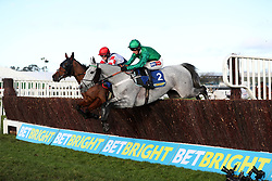 Jockey Daryl Jacob on Vyta Du Roc (right) on the way to winning the Watch Live Racing On Betbright.com Handicap Chase