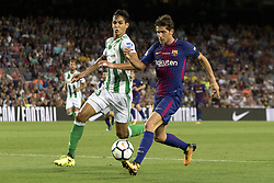August 20, 2017 - Barcelona, Catalonia, Spain - Sergi Roberto during the spanish league match between the FC Barcelona and the Real Betis in the Camp Nou Stadium in Barcelona, Spain on August 20, 2017  (Credit Image: © Miquel Llop/NurPhoto via ZUMA Press)