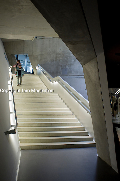 Interior of Military Historical Museum of the Bundeswehr (MHM) in Dresden Saxony Germany Architect Daniel Libeskind